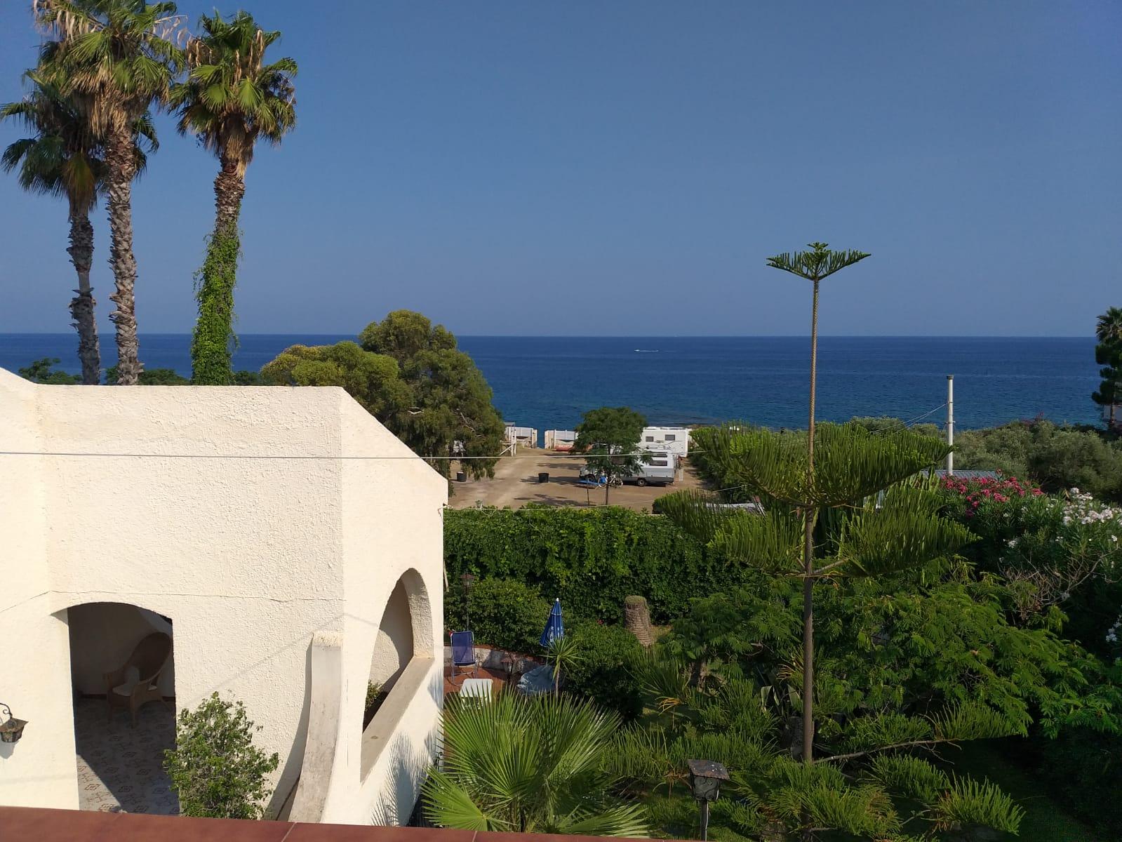 Attic terrace overlooking the sea